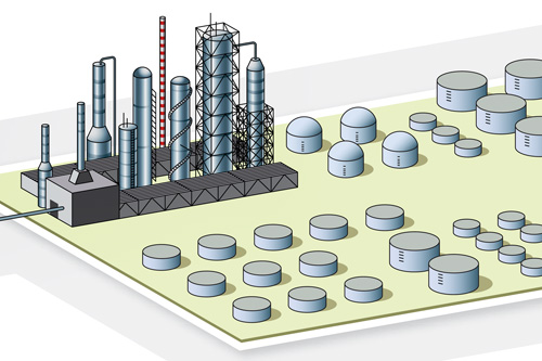 ABB Refinery Process Illustration