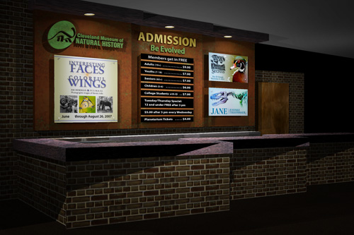 Cleveland Museum of Natural History Admission Desk Rendering