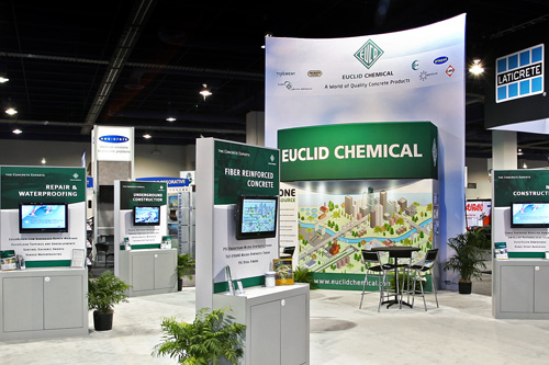 Euclid Chemical – World of Concrete Trade Show Booth Design