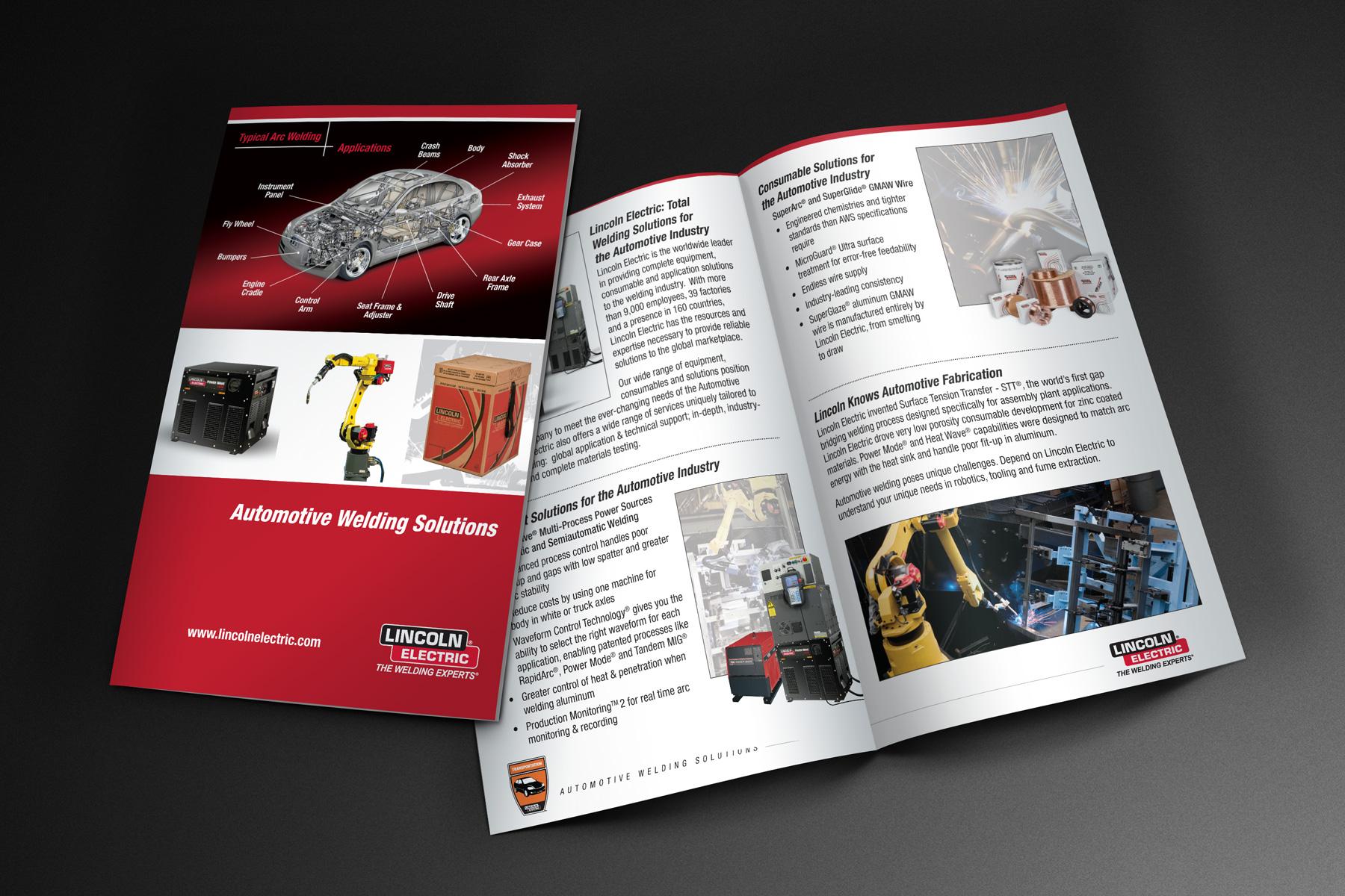 Lincoln Electric automotive brochure design