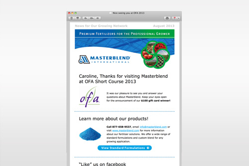 Masterblend eNewsletters