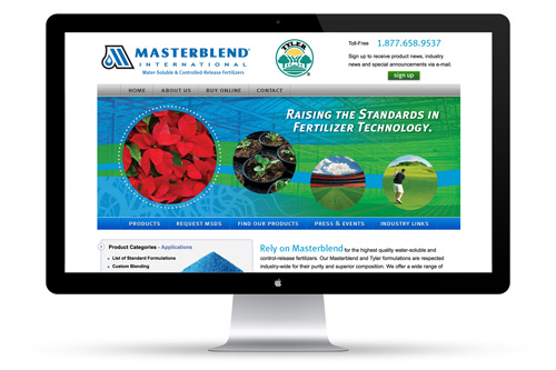 Masterblend International Web Design