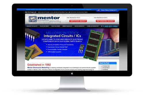 Mentor Electronics Web Design