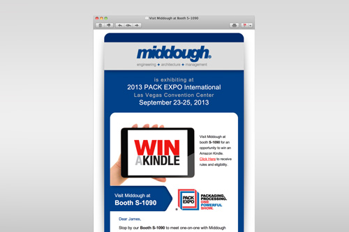 Middough Trade Show Email Promo