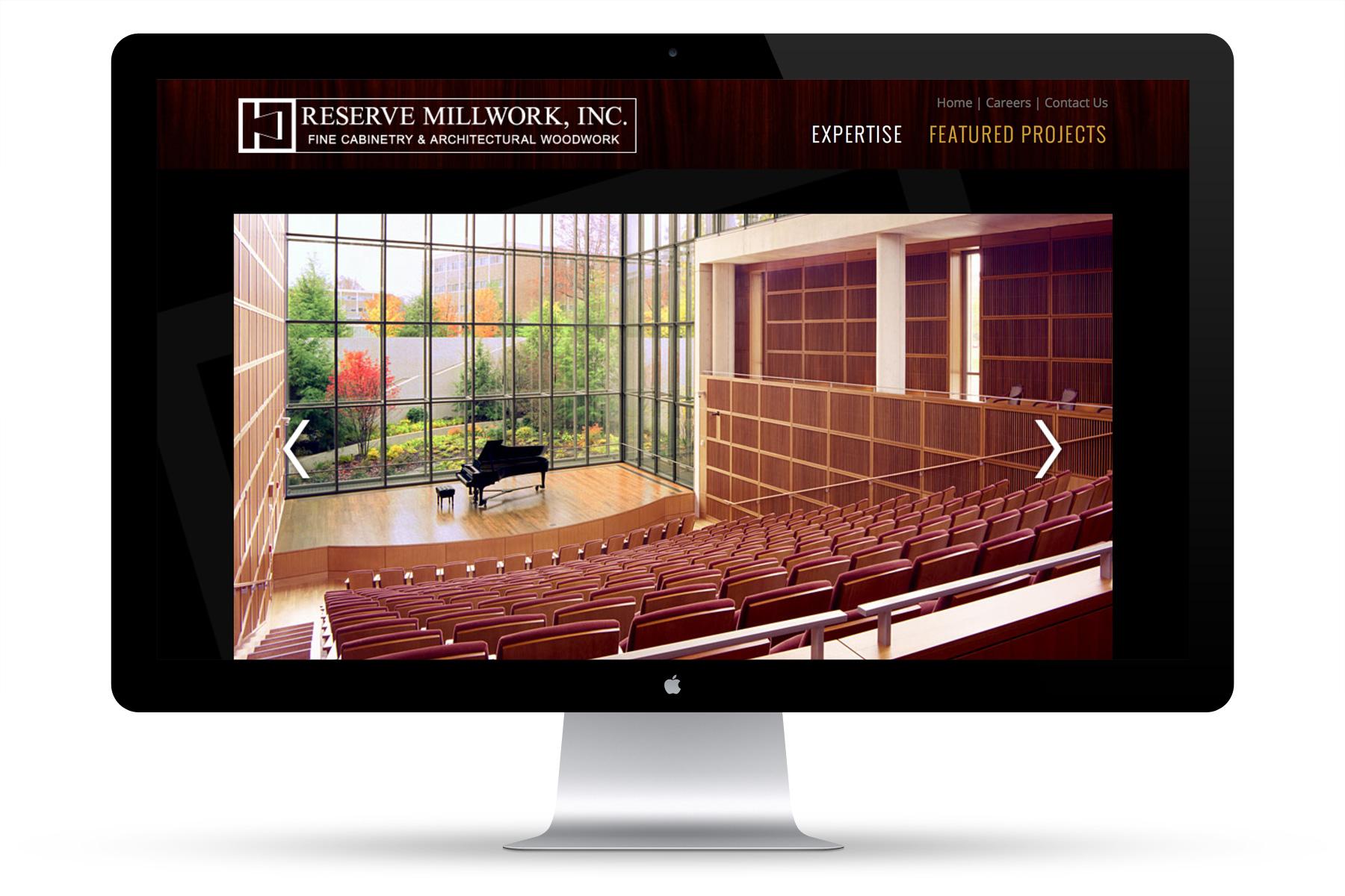 Reserve Millwork Web Design