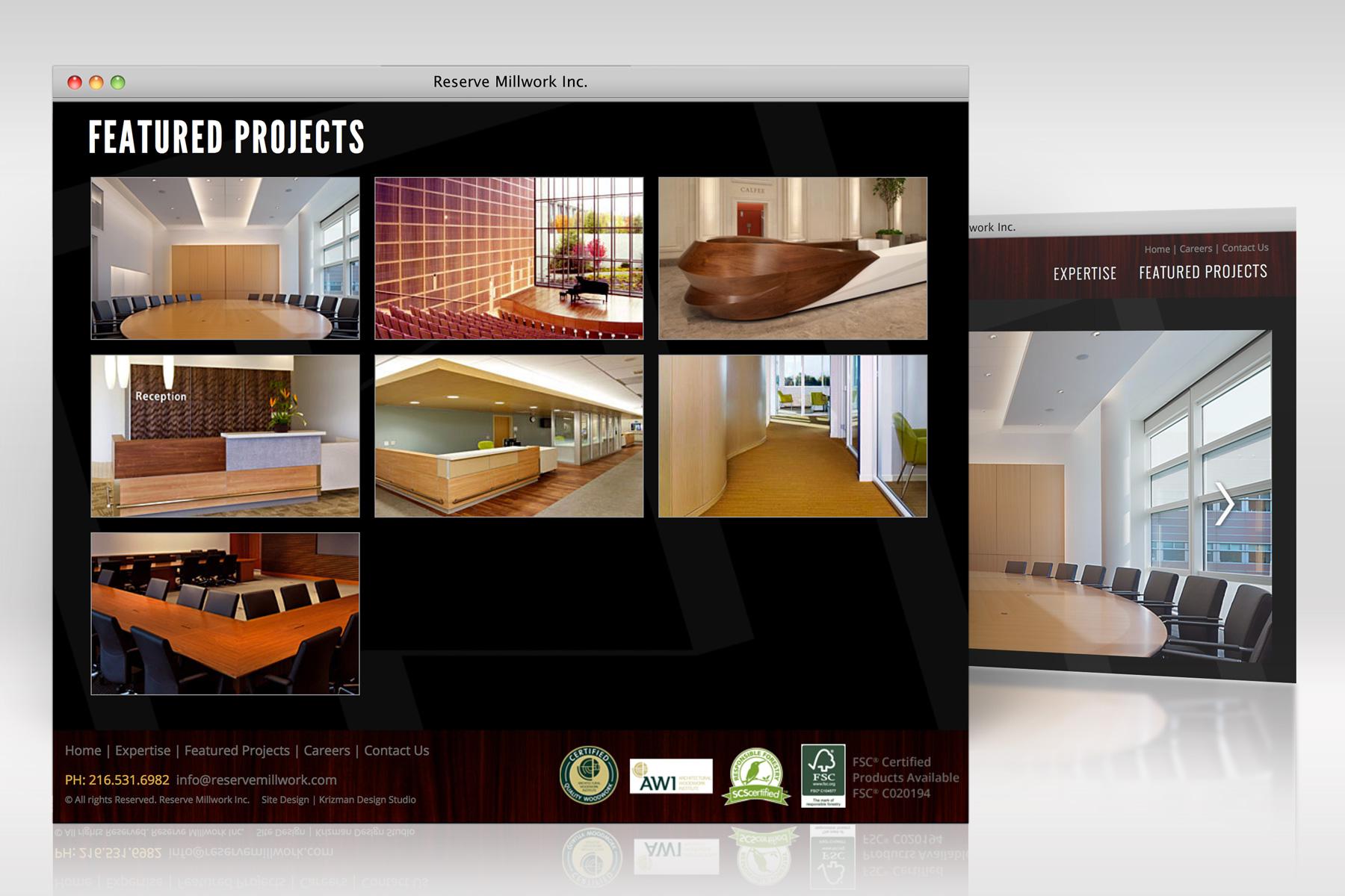 Reserve Millwork Web Design Detail