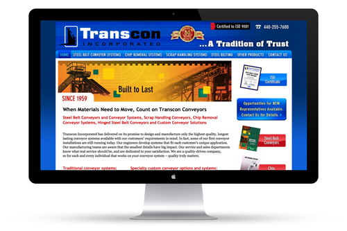 Transcon Inc. Web Design