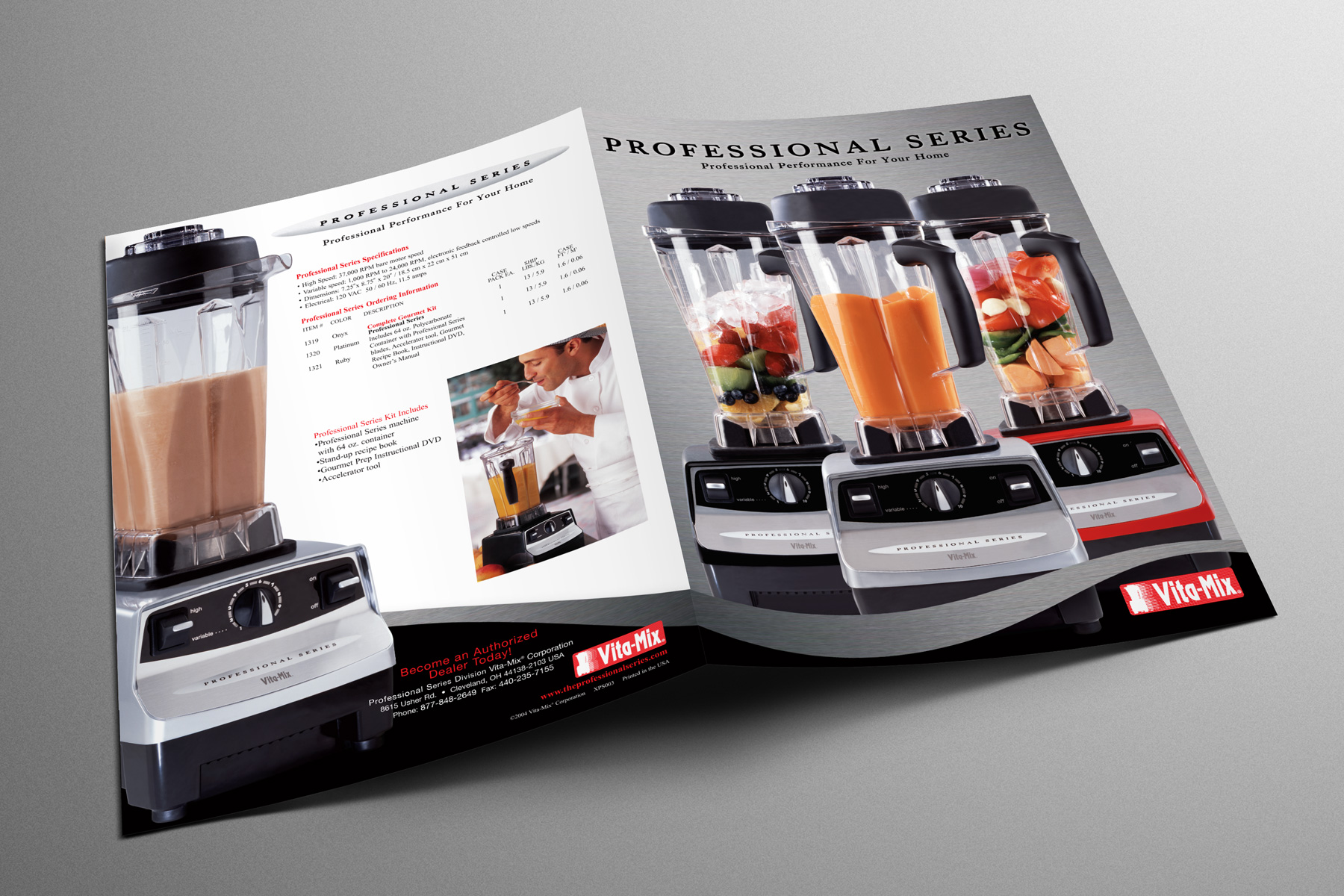 Vitamix folder graphic design